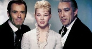 Henry Fonda, Dolores Michaels and Anthony Quinn , Warlock , 1959 directed by Edward Dmytryk [20th Century Fox]